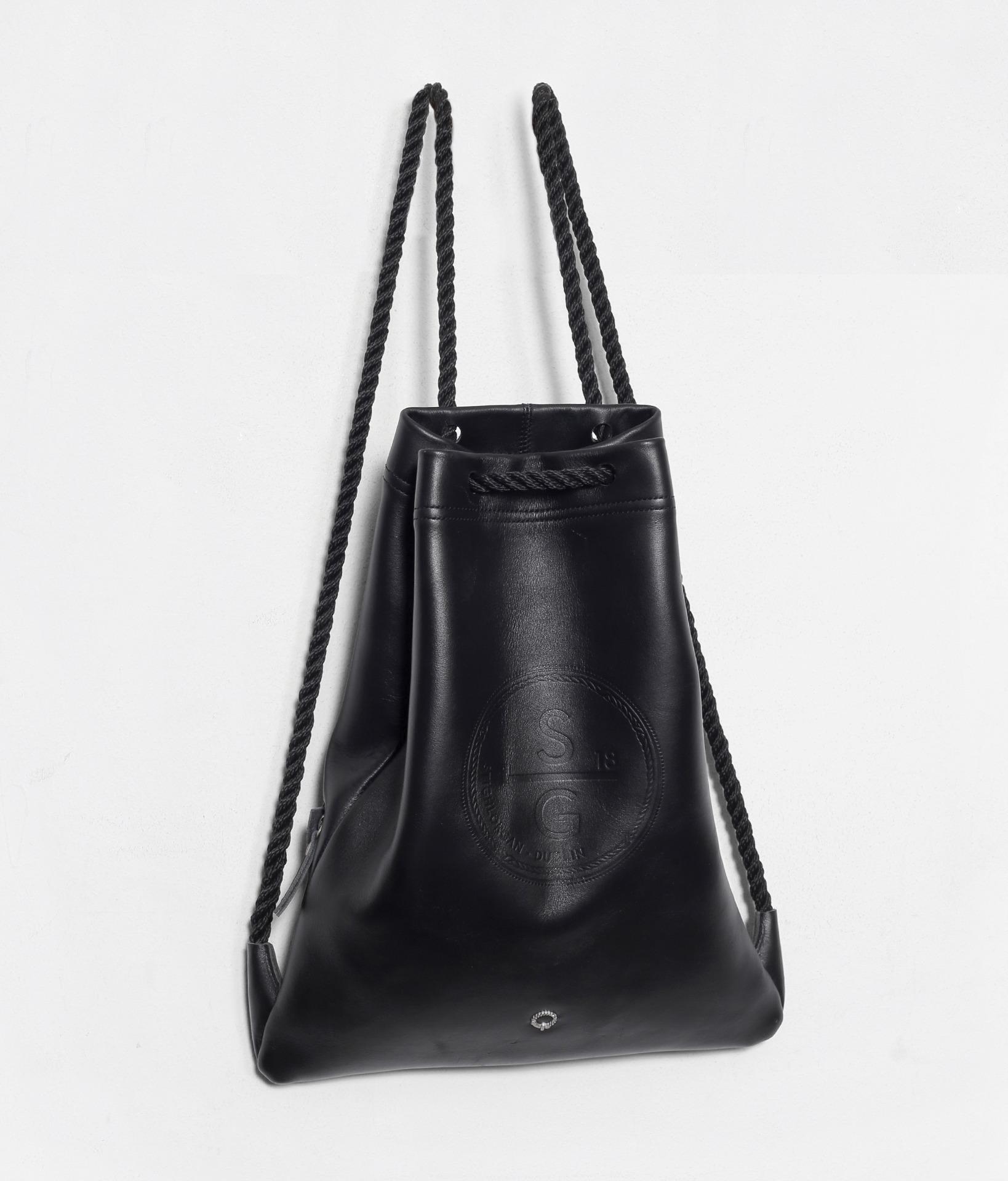 Stighlorgan Driscoll Leather Drawstring Bag