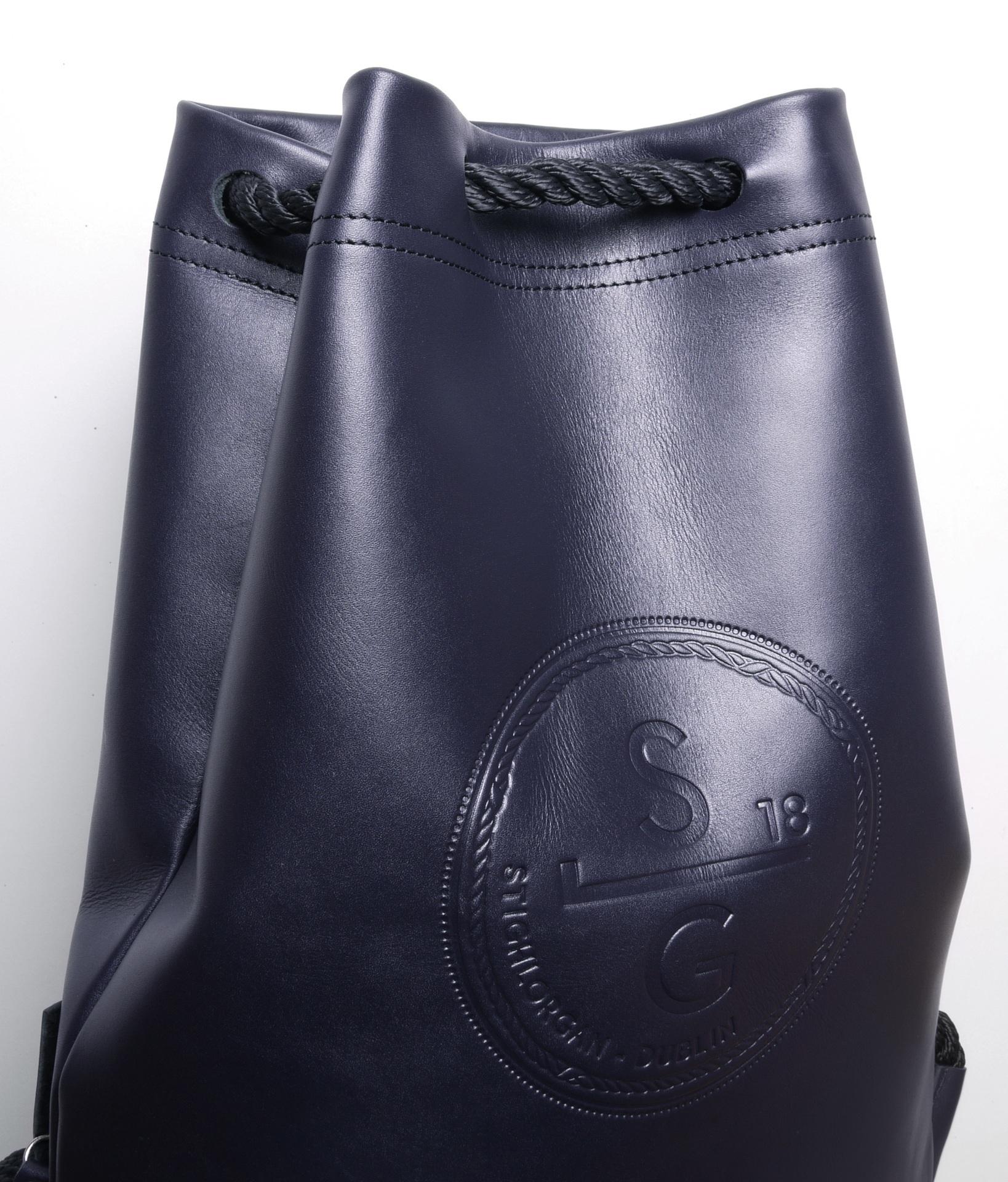 Stighlorgan - Driscoll leather drawstring bag - brown