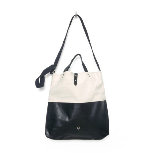 STIGHLORGAN KAVAN CANVAS LEATHER SHOULDER TOTE