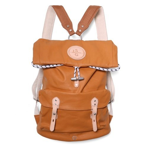 REILLY LACQUERED CANVAS ROLLTOP BACKPACK