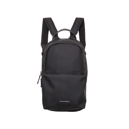 7336b83a2b93 LOGAN zip top laptop backpack vinyl - Stighlorgan